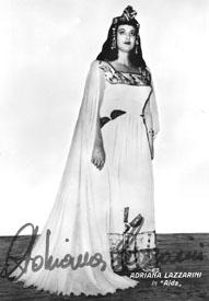 Adriana Lazzarini in Amneris ne Aida di Giuseppe Verdi