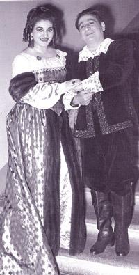 Maria Callas e Lauri Volpi ne I Puritani di Vincenzo Bellini