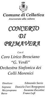Locandina del concerto del 1 Maggio a Cellatica (BS)