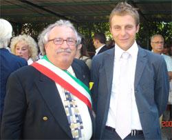 Prof. Michele Nocera, assessore del Comune di Sirmione e Ettore Bastianini Jr