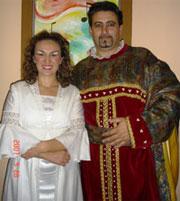 Gloria Bellini nei panni di Gilda e Luca Bodini nei panni del Duca di Mantova