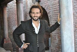 Leonardo Cortellazzi, tenore nei panni di Borsa nel Rigoletto a Mantova ripreso dalla Rai il 4 e 5 settembre 2010 con Placido Domingo