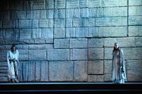 Anna Maria Chiuri in Fenena e Bruno Ribeiro in Ismaele nel Nabucco di Giuseppe Verdi al Teatro Regio di Parma - Festival Verdi 2009
