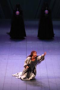 Foto di Desirée Rancatore ne I Puritani di Vincenzo Bellini in scena al Teatro Massimo di Palermo