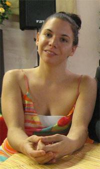 La regista Sarah Biacchi