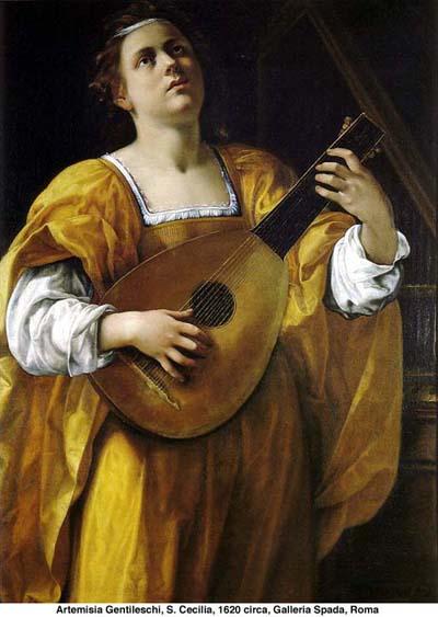 S. Cecilia di Artemisia Gentileschi - 1620 circa - Galleria Spada ROMA