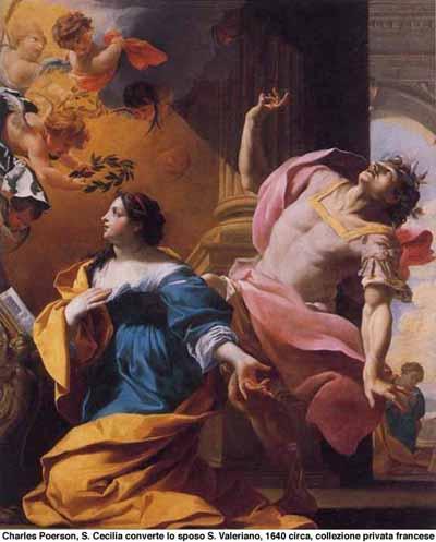 S. Cecilia converte lo sposo S. Valeriano di Charles Poerson - 1640 circa - collezione privata francese