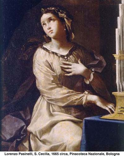 S. Cecilia di Lorenzo Pasinelli - 1665 circa - Pinacoteca Nazionale BOLOGNA