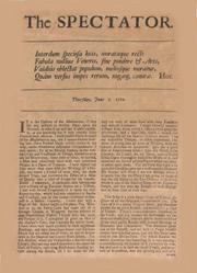 Copertina di un numero di The Spectator