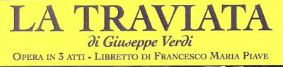 Locandina di La Traviata di Giuseppe Verdi in scena a Castel San Giovanni