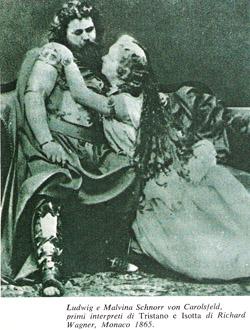 I primi interpreti di Tristan und Isolde di Richard Wagner