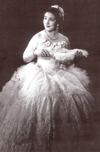 Maria Callas nei panni di Violetta, prima della dieta